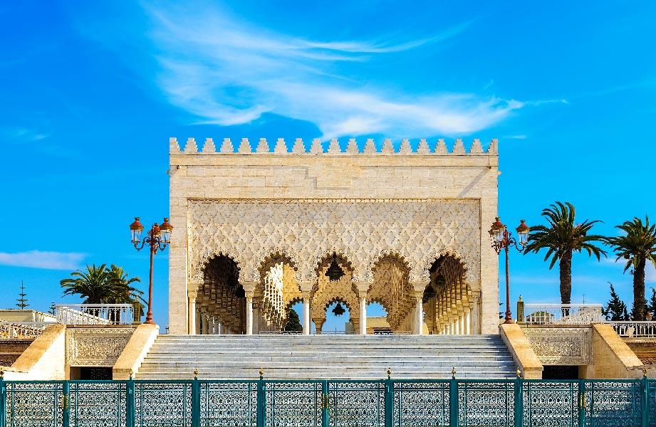 mausoleum mohamed V in Rabat